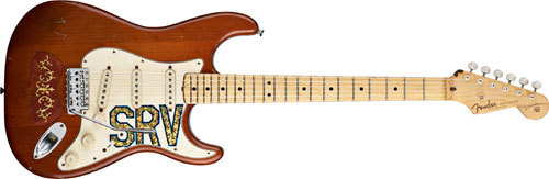 "Another one of Stevie Ray Vaughan's guitars: ""Lenny"", a 1963 maple neck Stratocaster. Fender is selling repros"
