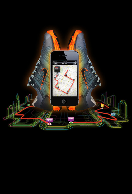ilovedust's campaign for Nike's new running iphone app. Look for it at a Niketown near you!