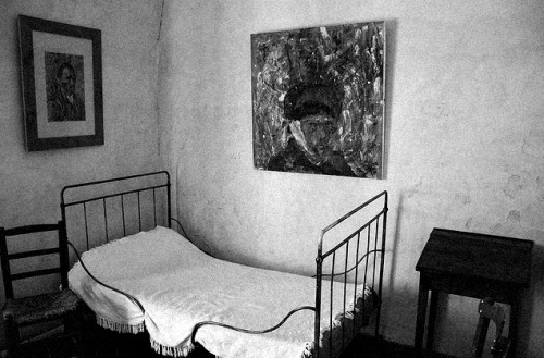 Reconstruction of Vincent's Van Gogh's bedroom in St. Paul de Mausole mental hospital, St. Remy de Provence by David IFA