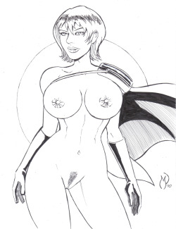 michaelpowellart:  This Power Girl drawing is now for sale on Ebay. Click the image to go to the listing if you'd like to place a bid on it.