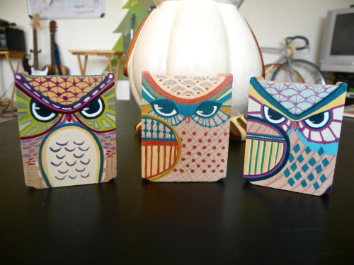 Sneak peak on more owls!Updates/details will come once I finish two more so thanks for being patient! Wish me luck and happy Friday!*Also I'm going to answer some questions that have been asked in my ask box, so don't worry, I haven't been ignoring them!