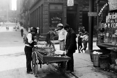 a clam seller in new york city i have always admired that generation that we call the greatest. i want to be there, 1941. in my sweet dresses and nice hats working as women together for a common purpose. god, how i want a common purpose.