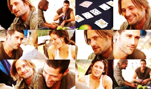 "Sawyer: Think you're in my head, Doc?Jack: You've still got 3 papayas. Call or fold.Sawyer: Well, you're in trouble now, Cool Hand. Pocket queens makes me the set. Jack: King's wired. But at least I'm not in your head. Well, I guess that's it.Sawyer: What do you mean, ""it""?Jack: Sawyer, you're busted. I got it all. It wouldn't really be fair for you to go pick more mangoes.Sawyer: Oh, I've got a hell of lot more than mangoes. You want to play real stakes? Name 'em.Jack: It's a pile of fruit, man.Sawyer: And I want it back.Kate: Should I go and get a ruler?"