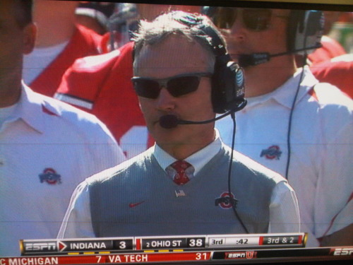 Tressel…with the DEAL WITH IT shades!