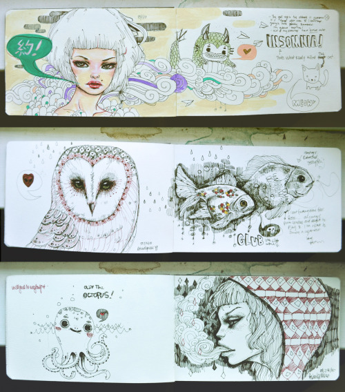 A compilation of some of my favorite sketches from my moleskine.Can't wait to get a new oneeeee.