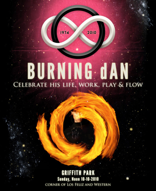 Celebrate the life, work, play and flow of BURNING d@NCome one come all!SUNDAY at NOONGriffith Park (Los Feliz & Western)10-10-2010