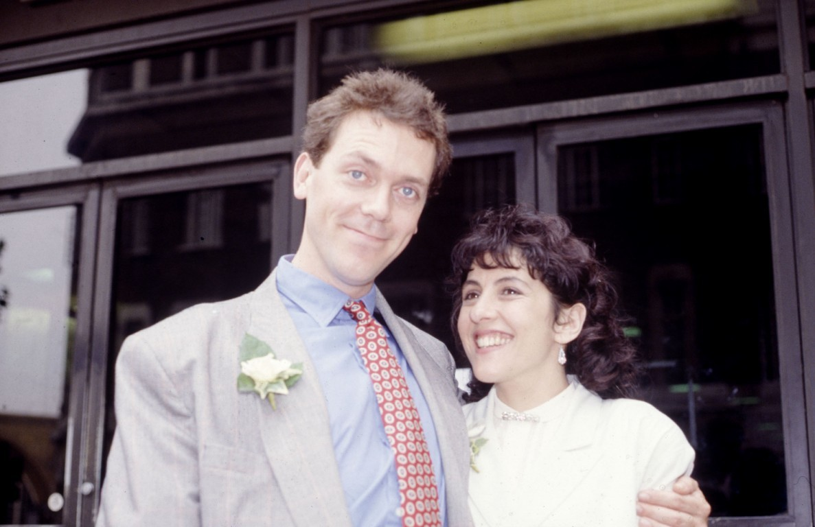 Hugh Laurie and his wi...