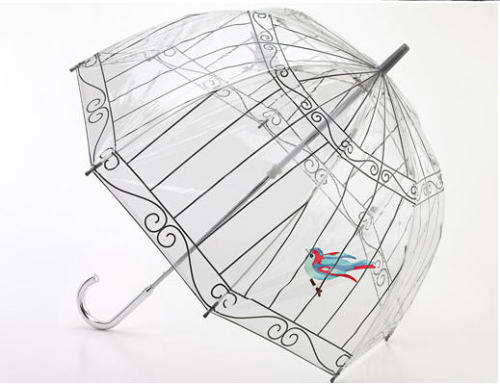 Lulu Guinness umbrella so good.