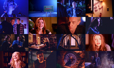 bruteheartofabrutelikeyou:  TOP 15 BtVS EPISODES.  #14 7.07 Conversations with Dead People. I fell into the moon and it covered you in blue I fell into the moon Can I make it right? Can I spend the night?