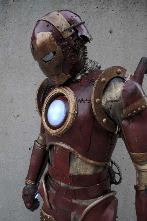 Steampunk Iron Man, the Marvel Costume Contest Winner at New York Comic Con 2010. Wow. Photo by Judy Stephens.