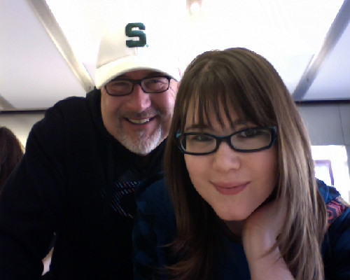 My Dad and I in the Apple Store! It's a gorgeous autumn day!