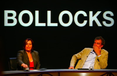 Jeremy Clarkson and an appropriate background.