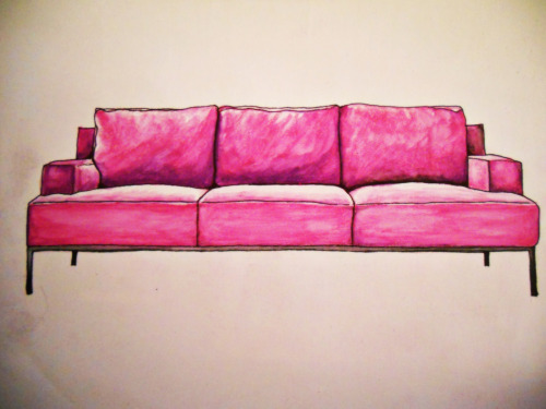 watercolors…sofa by B&B italia