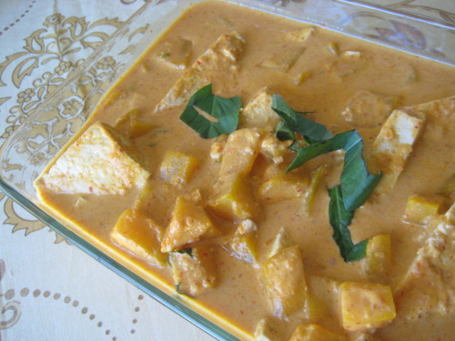 Thai Pumpkin Curry with Steamed Tofu