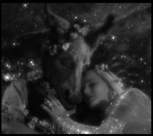 James Cagney as Bottom and Anita Louise as Titania in A Midsummer Night's Dream (1935, dir. William Dieterle & Max Reinhardt ) And yet, to say the truth, reason and love keep little company together nowadays.
