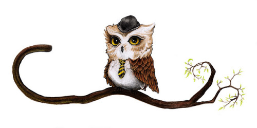 Mr. Owl van de Stüf - by Laura Serra(via minusbaby) if Stewf was an owl, that's what he would look like.