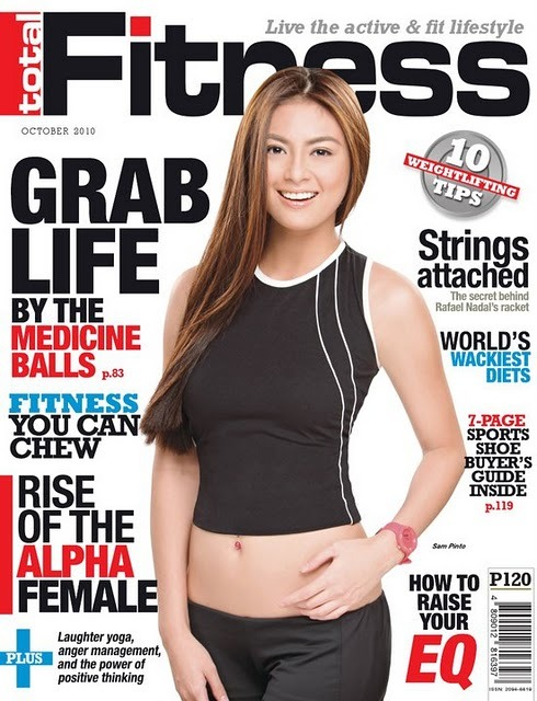 Sam Pinto graces the cover of Total Fitness October 2010 issue! Grab a Copy now!!