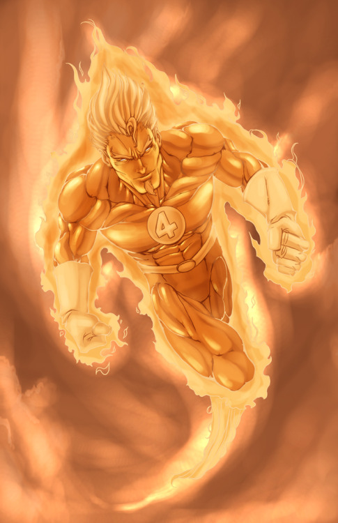 Human Torch by =ErikVonLehmann
