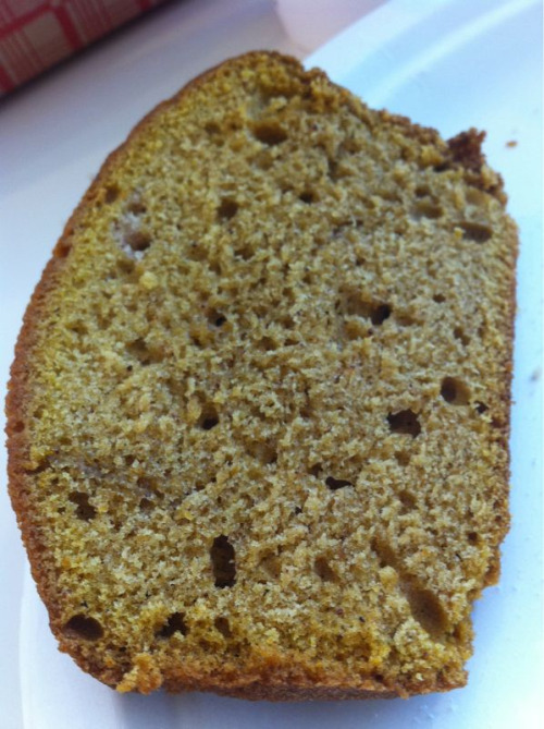 Allison made pumpkin bread — my favorite thing about autumn!