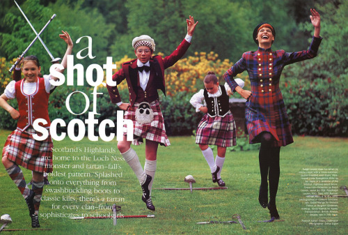 fakingfashion: Vogue US September 1991 | A Shot of Scotch | Arthur Elgort