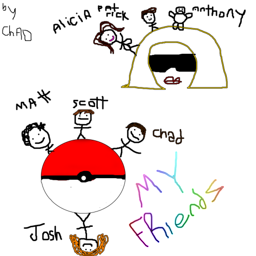 dese r my frenz frum pokemon land n also from gaga land. i dint inklude sum liek iris n miya n slowpokey n rankurusu but das cuz my hand was tired n i run out of room :CCC  also justin and kelsey ;_;