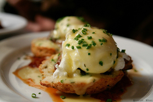 blizzardzz:  Five Points - Poached Eggs and Sausage (east village, nyc)
