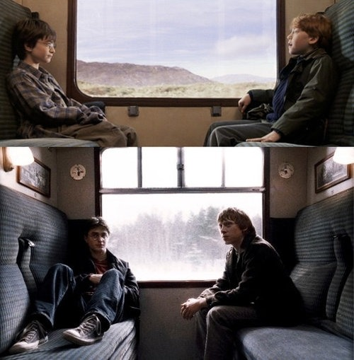 weasleyandpotter:  Ron & Harry, now and then.