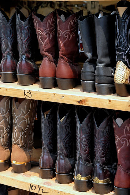 Q and Answer: Cowboy Boots? Josh writes (succinctly): Cowboy boots? The short answer is: if you have to ask, no. If you're a cowboy, or live in a cowboy place, then yes, western boots, and indeed western clothes generally, are fine.  There are places in this great country where men wear cowboy boots with suits, and while it isn't exactly the height of taste, I wouldn't deign to correct them.  It's a cultural thing.  If you're that kind of guy in that kind of place, then go for it.  Western clothes are one of America's great contributions to the world of style. That said: if you're not that kind of guy, then no way.  I have always wished I could wear western shirts, but I have never looked like anything other than a total tool in them.  This is because I am much more George W. Bush than I am Sam Houston.  If there is doubt, err on the side of caution.