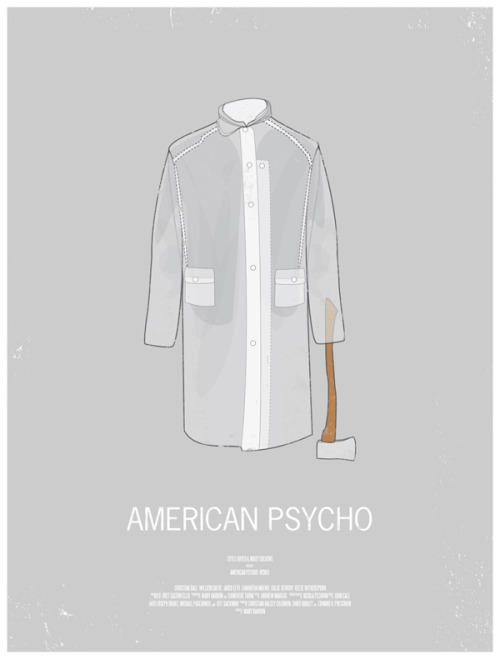 Movie posters inspired by men's style. I like it.