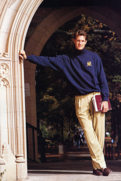 Christian Laettner, looking like the preppie jerk in some college movie.