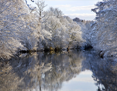 yorkshiresociety:  Yorkshire scene from marksunderland: River Nidd in Winter, Knaresborough