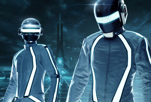 First official look at Daft Punk in Tron Legacy Wow! Check out the new helmets! As some of you know, Daft Punk, who are creating the electronic score for Tron Legacy, also appear in the movie in a cameo. Well today we've been given our first glimpse of the duo in action…