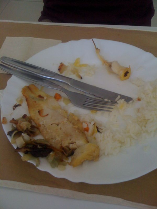 Pedro's disgusting lunch. Fail!