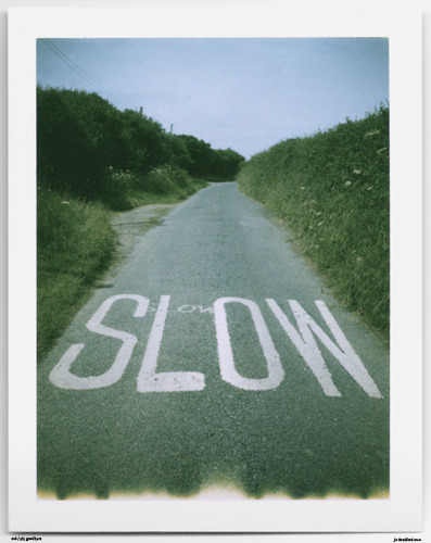 Day 209. This is Cornwall Nr. Crackington Haven, Cornwall, UK.   Polaroid Land Camera 240 and 125i film (expired 12/2007).   Polaroid photograph, all rights reserved, copyright: Jo Bradford 2010