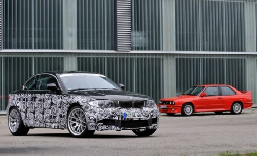 Past and future. The BMW 1 Series M Coupe and BMW M3 coupe.