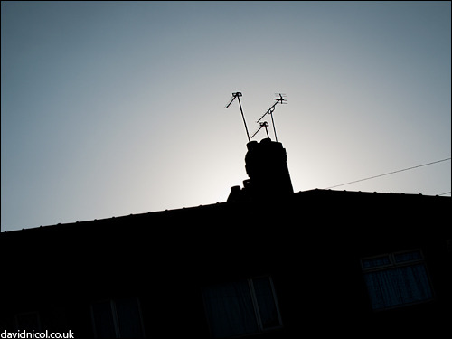Chimney silhouette. Today.