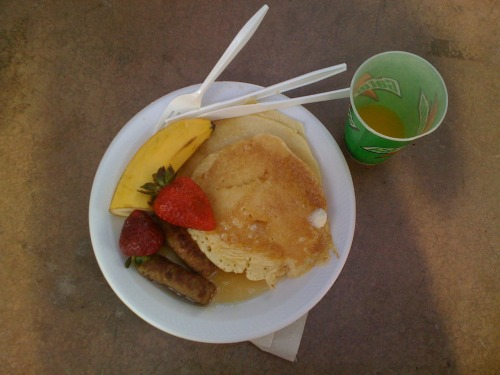The best races are the ones with a $5 all-you-can-eat pancake breakfast! I sure took advantage of that…