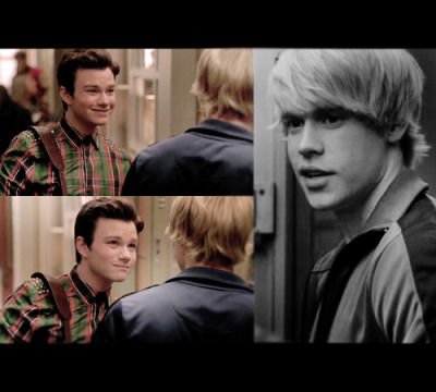 chrisandglee:  Kurt: I have three gifts. My voice, My ability to spot trends in mens fashion and my ability to know when it comes from a bottle. Sam: I don't dye my hair dude. Kurt: Yes you do. But it's just between friends, that's not natural.