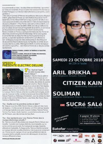 Interview in Trax magazine (France) /page 2