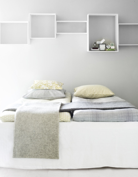 A bedroom styled by Finnish stylist Susanna Vento. Photo by Kristiina Kurronen.