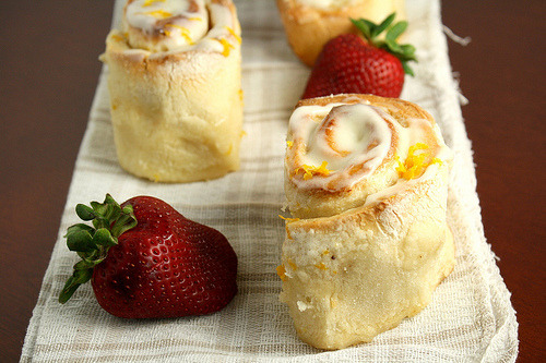 Sticky Meyer Lemon Rolls.