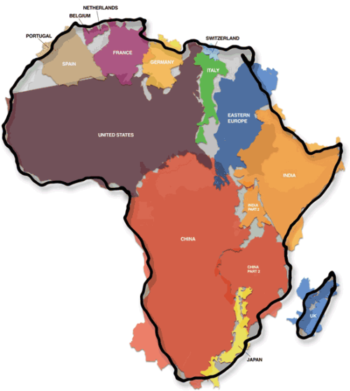 misterjt:  The True Size Of Africa
