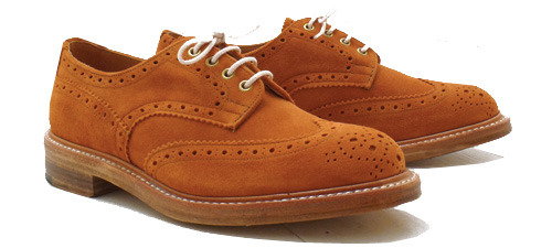 Trickers x The Bureau Suede Burton Derby Brogues