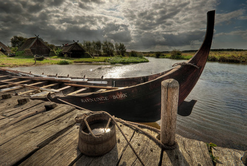 Replica of a smaller Viking boat found near Roskilde.