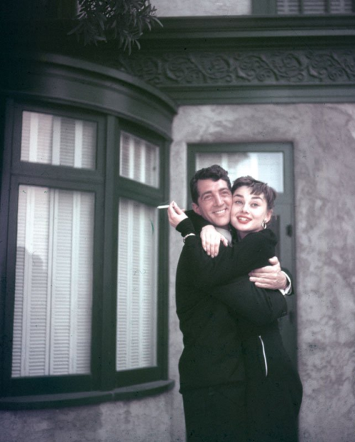 2831:Dean Martin and Audrey Hepburn on the set of Sabrina (1954)I just died