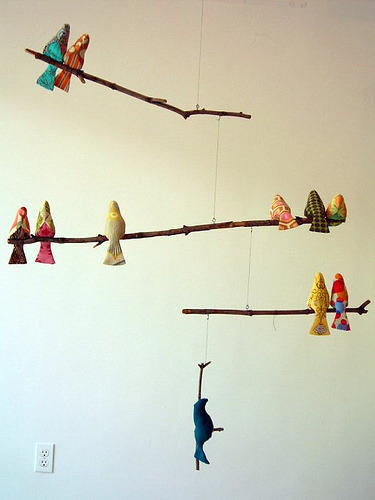 Make your own bird mobile
