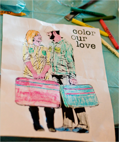 Keep the kiddies busy during your wedding reception with customized coloring books.