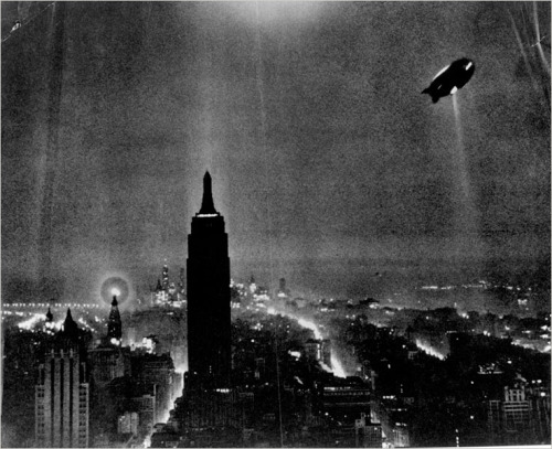 The Hindenburg over Manhattan, c. 1936