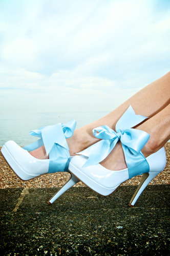 Gorgeous wedding shoes.