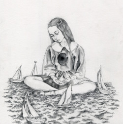 mypeterpancomplex:  pinpricks:  The sea swallowed her heart whole. She tethered ribbons around it's aorta; an anchor for his ship.   Oh Marisa.